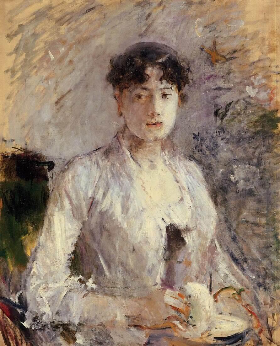 «Mujer joven en malva», de Berthe Morisot